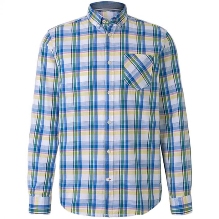 Camisa casual TOM TAILOR Fitted Check Shirt 1014112